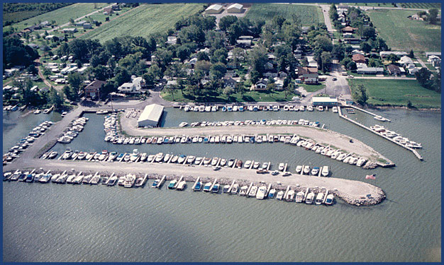 Channel Grove Marina from above